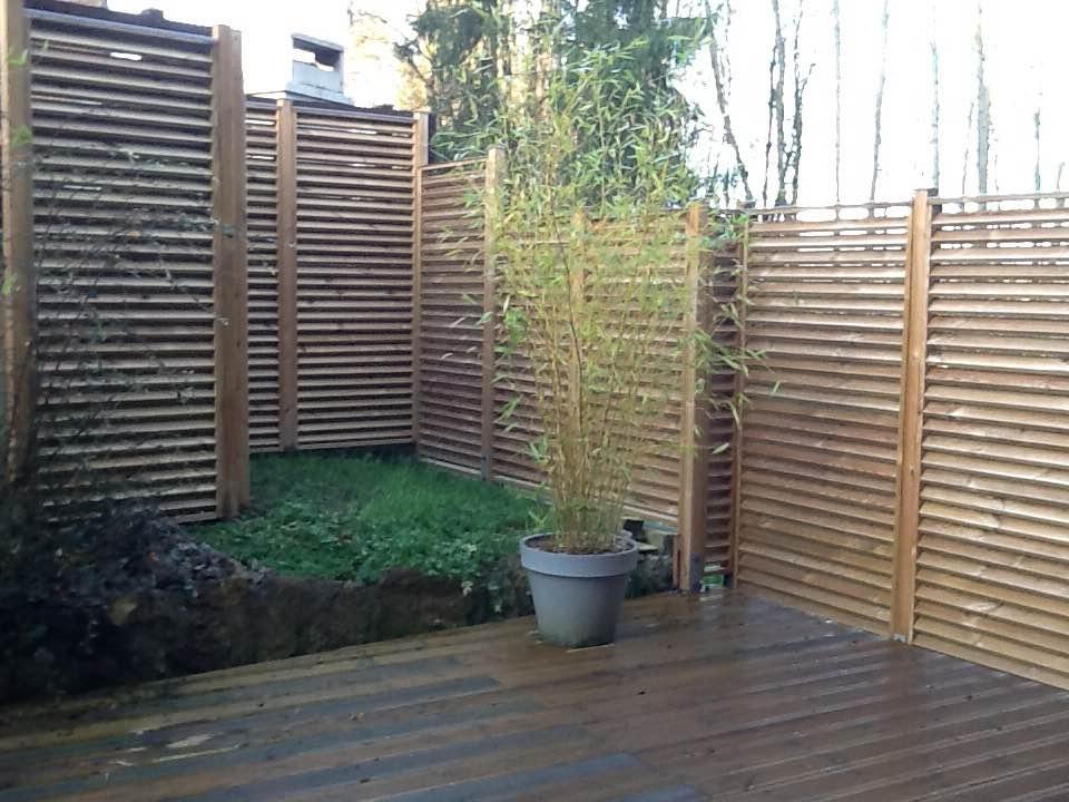 Brise Vue Persienne Bois - Arkobois u2014 Découvrez nos escaliers, mur brise vue en bois