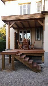 Terrasse Ipé avec toit plat