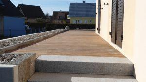 Terrasse Ipé, finition granit