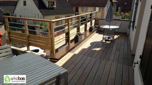 Terrasse Ipé à l'étage