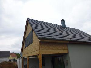 Création d'une pièce à l'étage avec raccord toiture