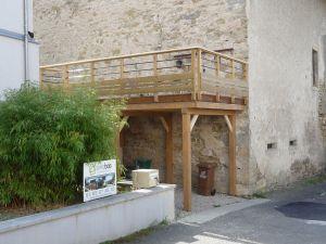 Carport sous terrasse