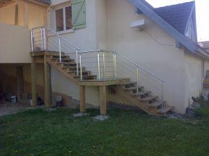 escalier rambarde alu-inox