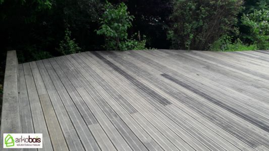 Terrasse Yellow Pine Gris anthracite