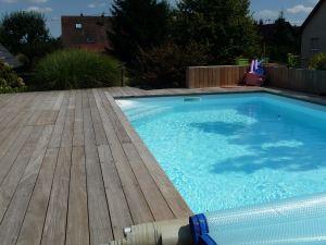 Terrasse Ipé sur structure porteuse autour de la piscine