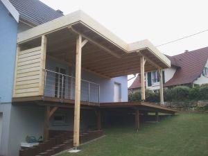 Auvent toit plat, étanchéité Sarnafil