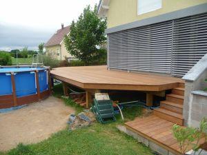 Terrasse et accès en Ipé