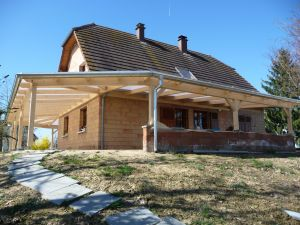Couverture polycarbonate sur 2 facades