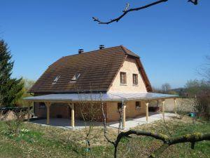 Couverture polycarbonate sur terrasse