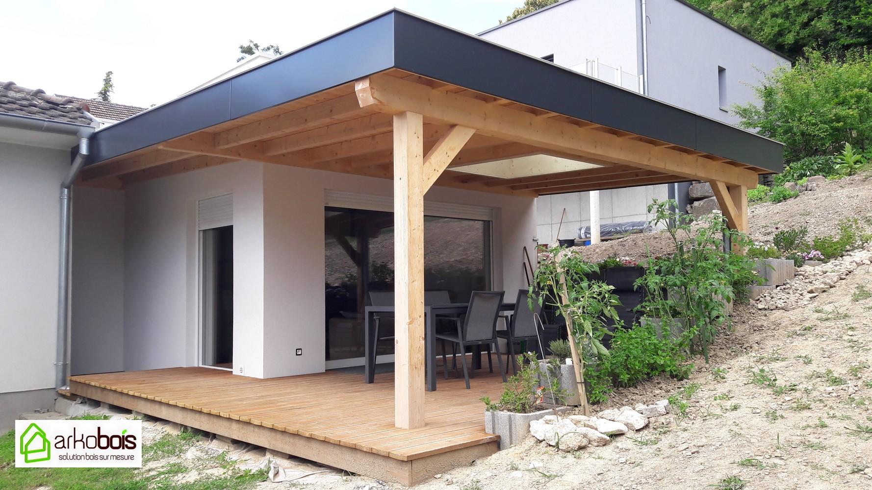 Extension Maison Terrasse Couverte arkobois — véranda et agrandissement - arkobois