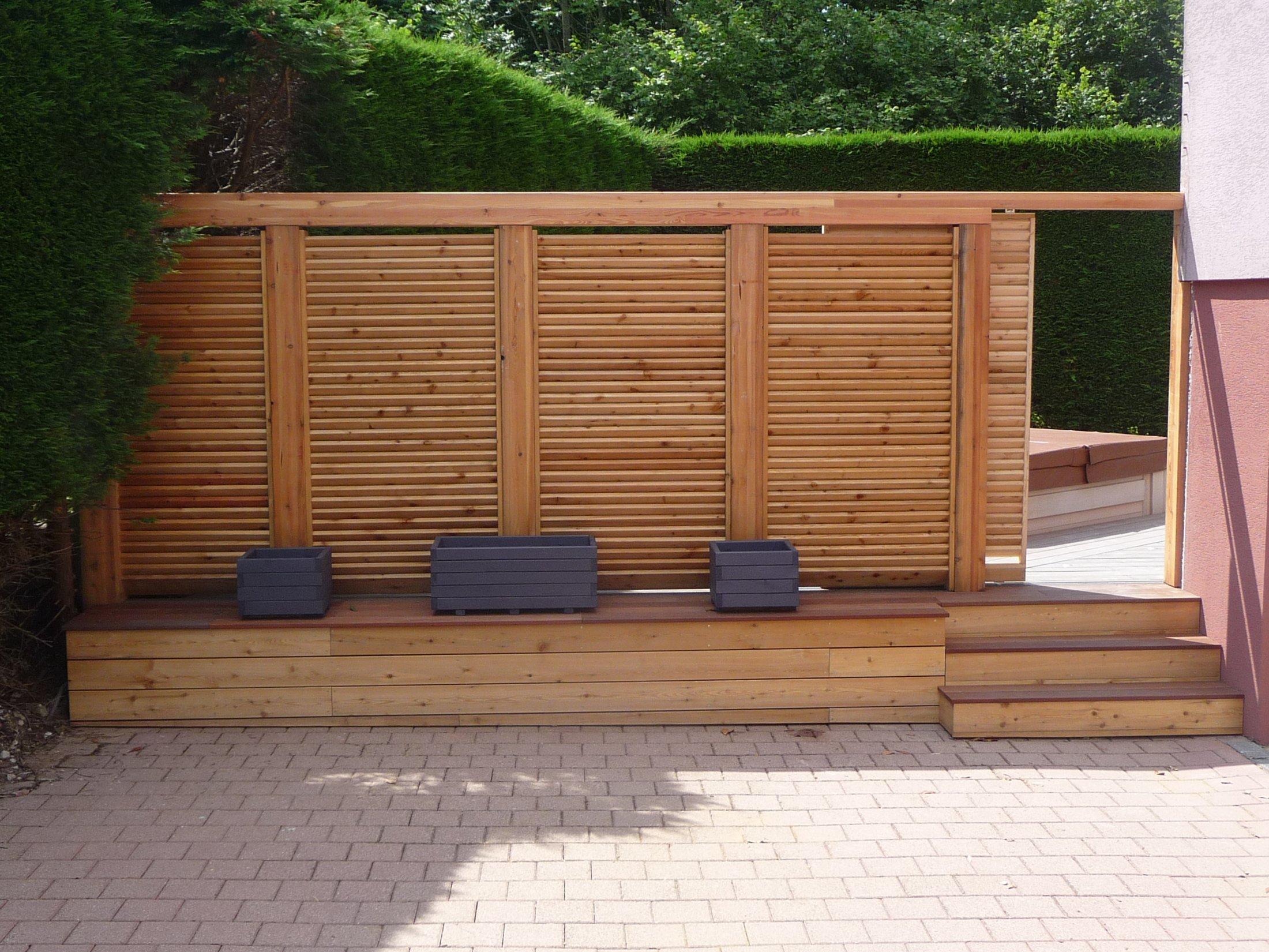 Brise Vue Terrasse Bois arkobois — découvrez nos escaliers, mur brise vue en bois