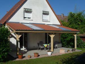 Couverture de terrasse tuile & polycarbonate