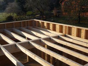 Montage maison ossature bois, toit plat