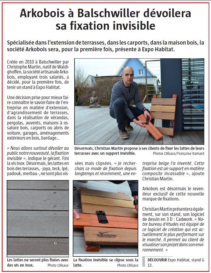 Article L'Alsace du 19/02/16